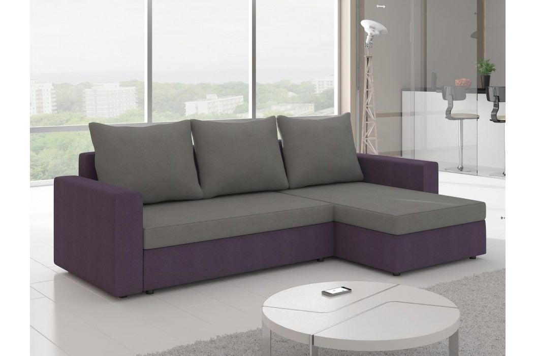 ELTAP Rohová sedačka LIVIO 5, šedá/fialová