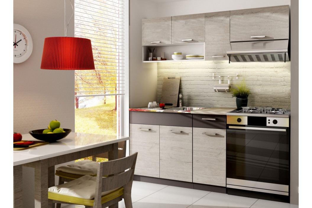 Kuchyně MORRENO 120/180 cm, dub picard/lava