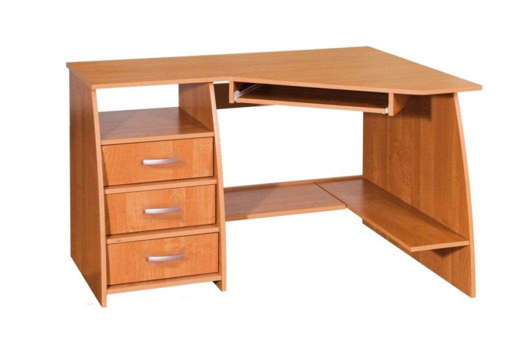 MORAVIA FLAT PC stůl se šuplíky SEVILLA 3, levý, barva: