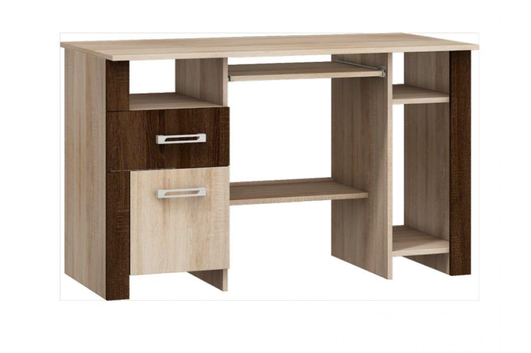 Studentský PC stůl HUGO mat, dub sonoma/dub sonoma tmavý
