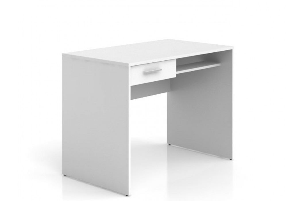 Black Red White Psací stůl se zásuvkou NEPO BIU1S, bílá