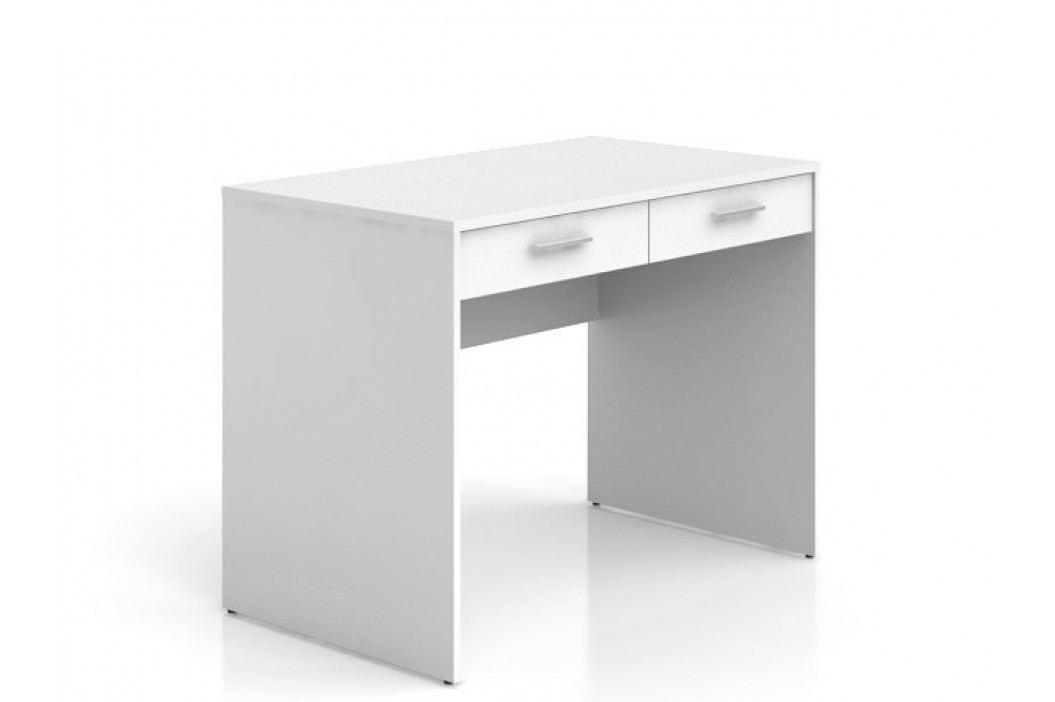 Black Red White Psací stůl se šuplíky NEPO BIU2S , bílá