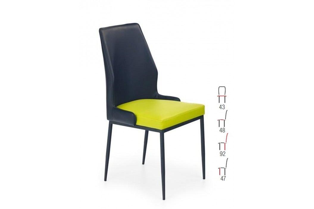 Židle K199, černá-zelená obrázek inspirace