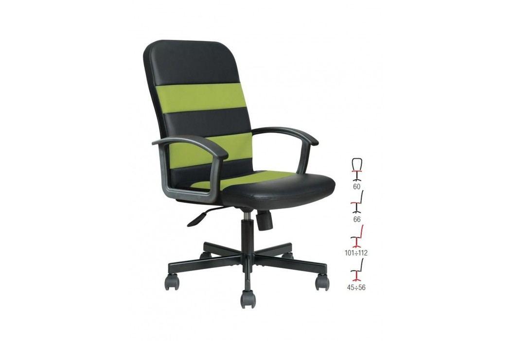 Halmar Kancelářské křeslo RIBIS, černo-zelená