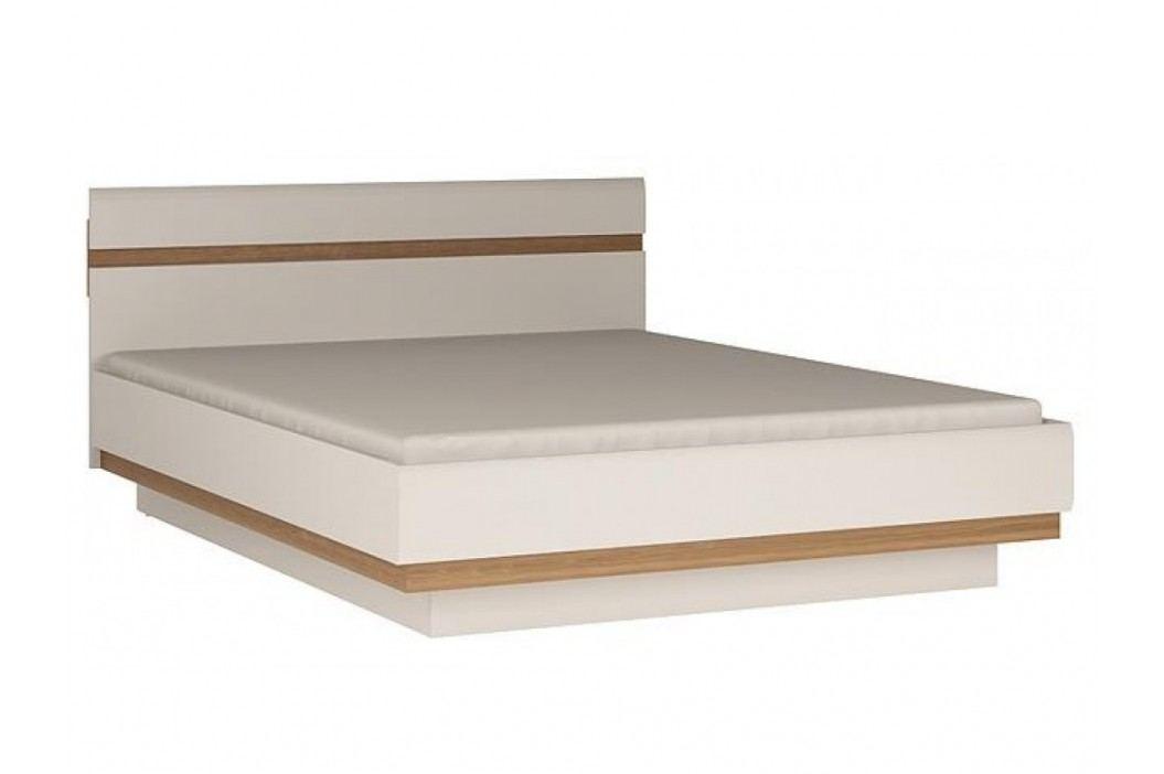 LINATE/94, postel 160 cm, alpská bílá/trufla