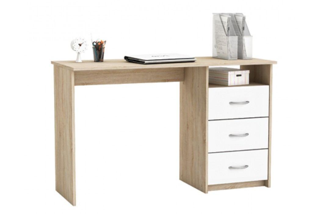 DEMEYERE ERISTOTE, psací stůl, dub sonoma/bílá