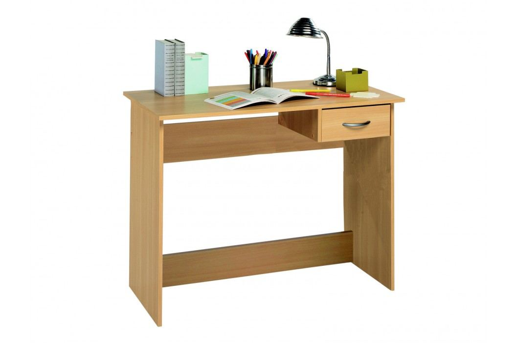 DEMEYERE Studentský psací stůl se zásuvkou ALPEN, buk