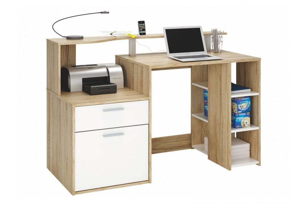 DEMEYERE ORAKLE, psací stůl, dub sonoma/bílá