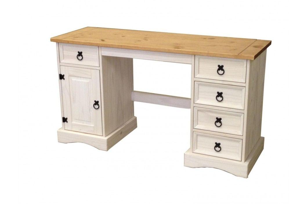 Idea Psací stůl CORONA bílý vosk