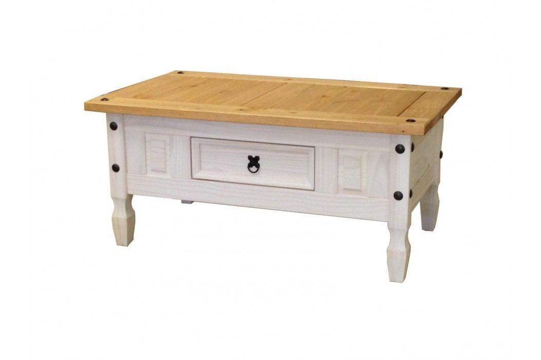 Konferenční stolek CORONA bílý vosk obrázek inspirace