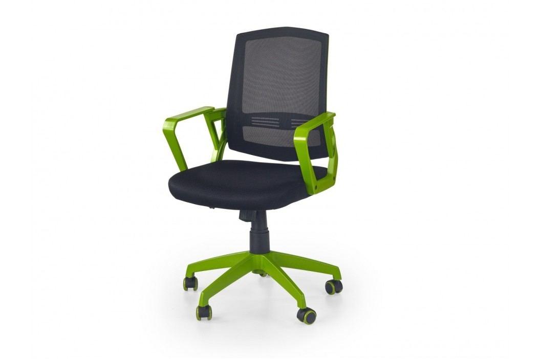 Halmar Kancelářské křeslo ASCOT, černá/zelená
