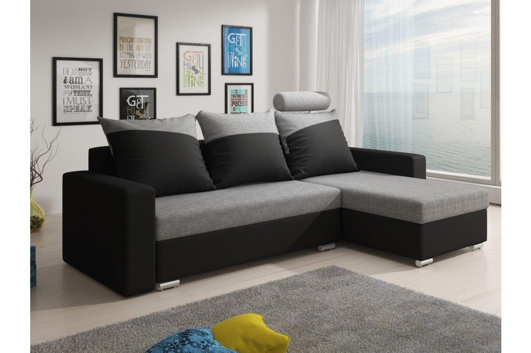 Smartshop Rohová sedačka MONDEO 8, šedá/černá