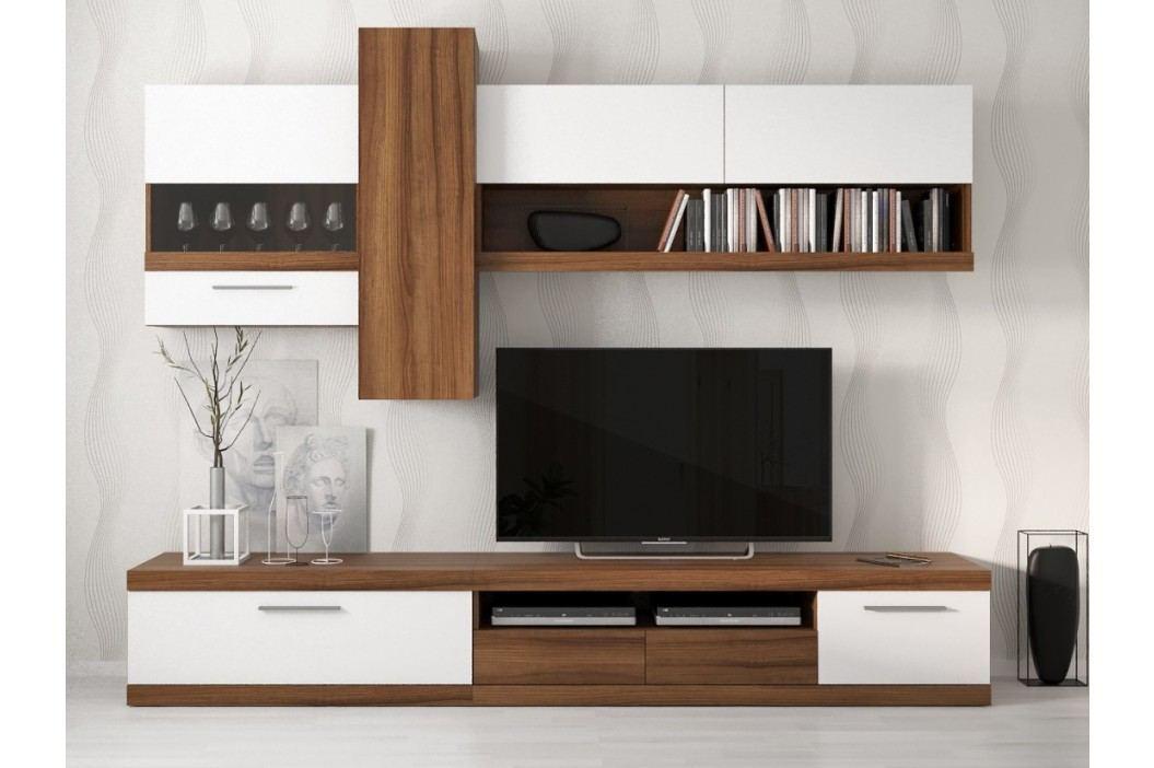 LAITALIA obývací stěna, ořech/bílá