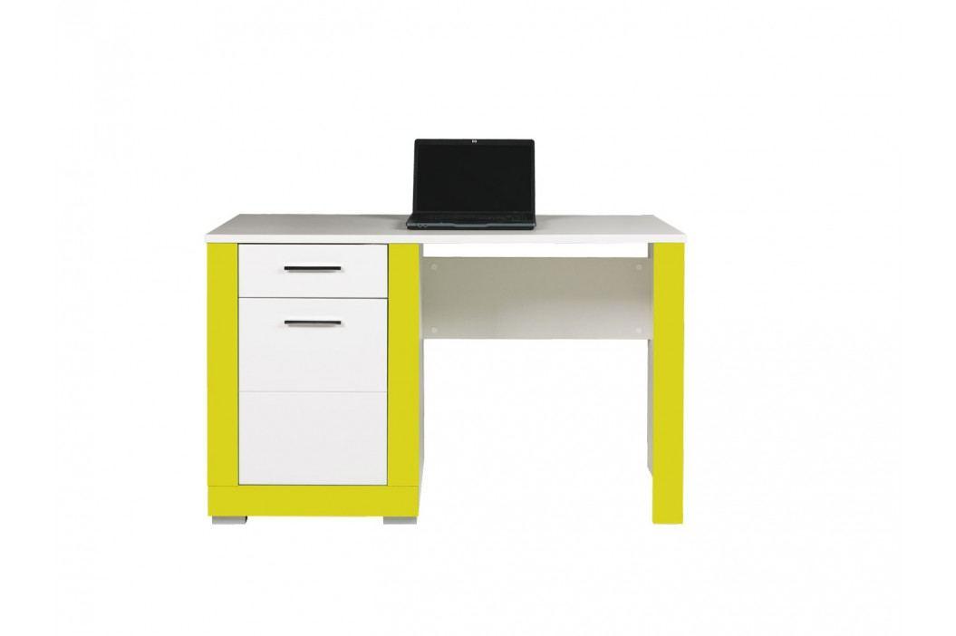 TWIN, psací stůl TW12, bílá/akvamarín