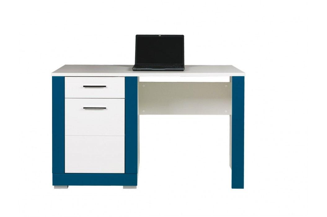 Bog Fran TWIN, psací stůl TW12, bílá/tyrkysová