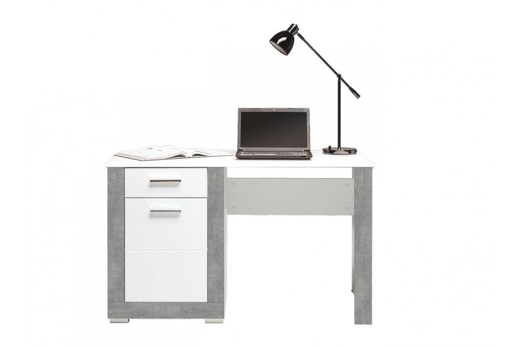 Bog Fran TWIN, psací stůl TW12, bílá/šedá