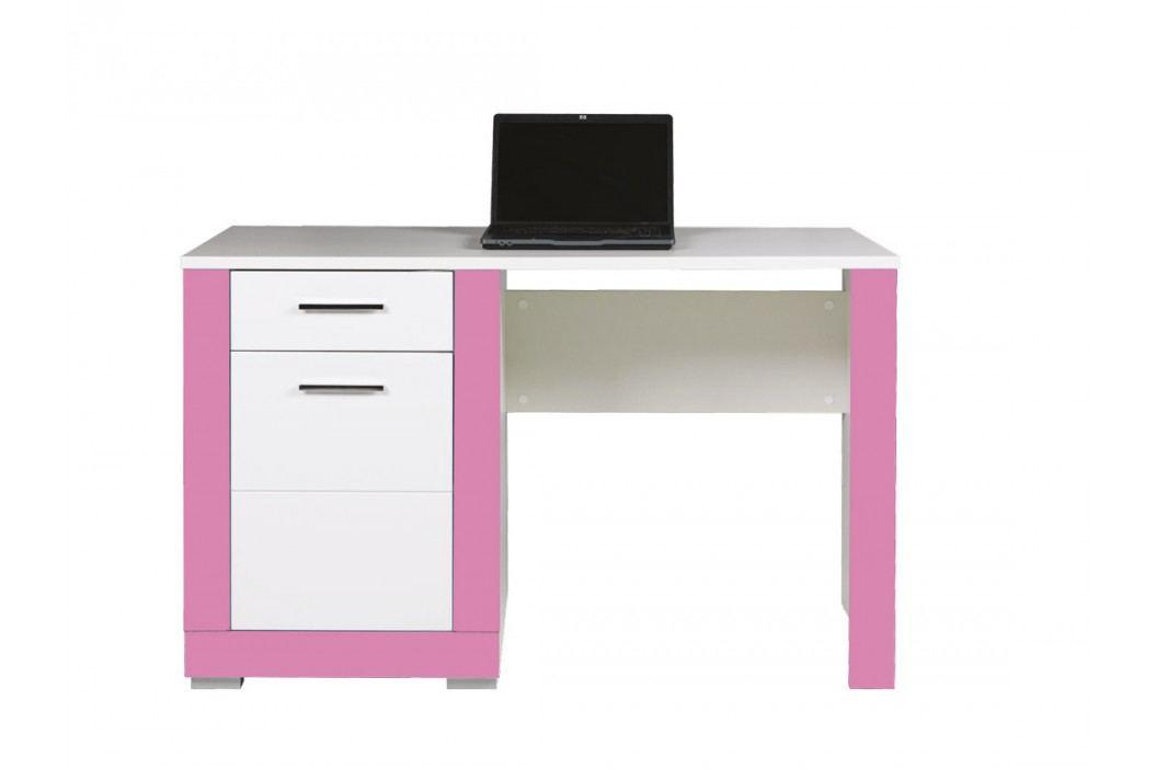 Bog Fran TWIN, psací stůl TW12, bílá/fuchsie