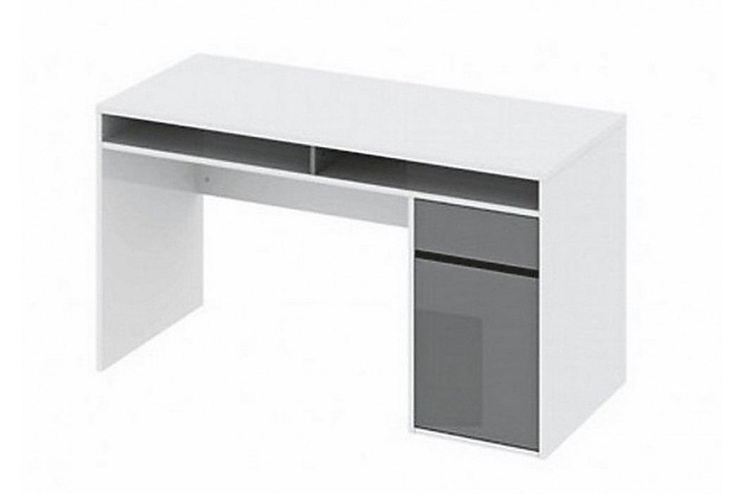 Psací stůl AGENT bílý lesk/černý lesk