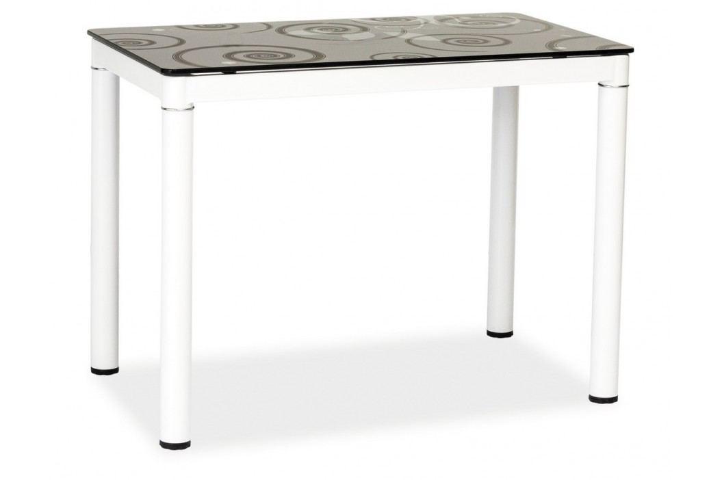 Jídelní stůl DAMAR, černá/bílá