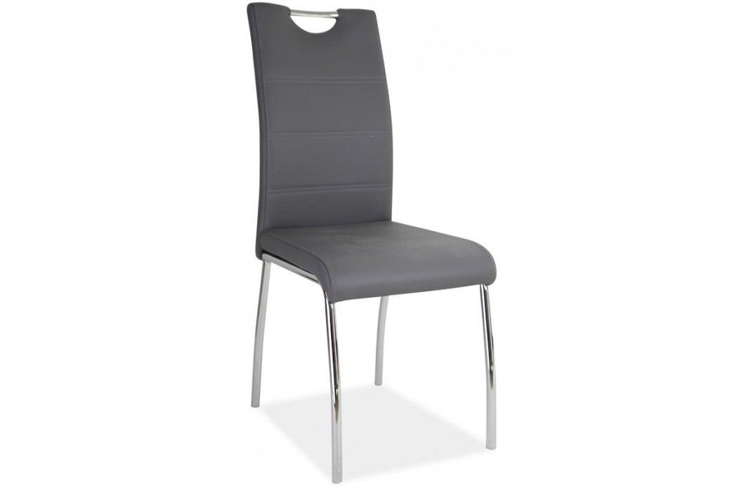 Jídelní čalouněná židle H-822, šedá