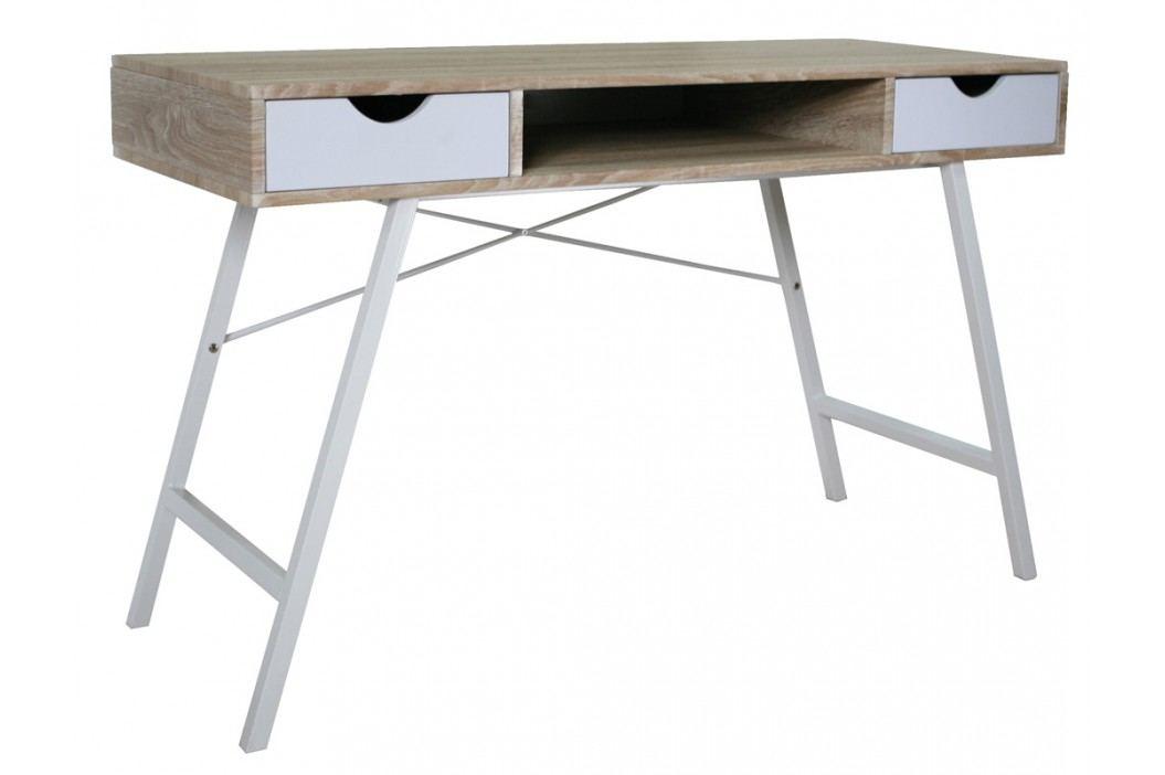 Smartshop Psací stůl B-140, dub sonoma/bílá