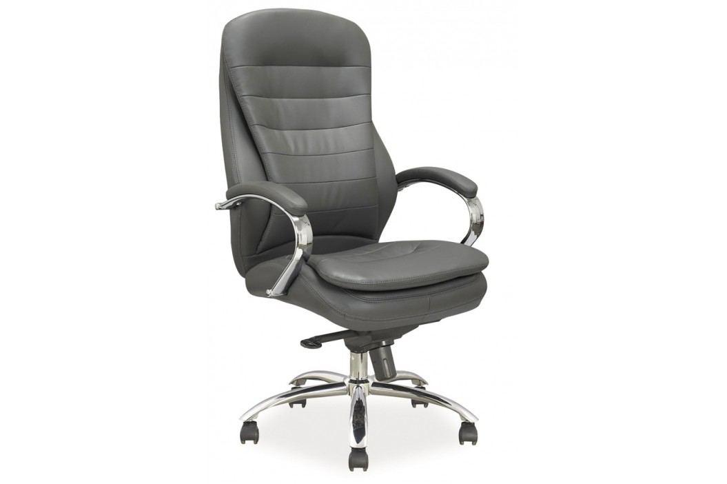 Kancelářské křeslo Q-154 šedá ekokůže