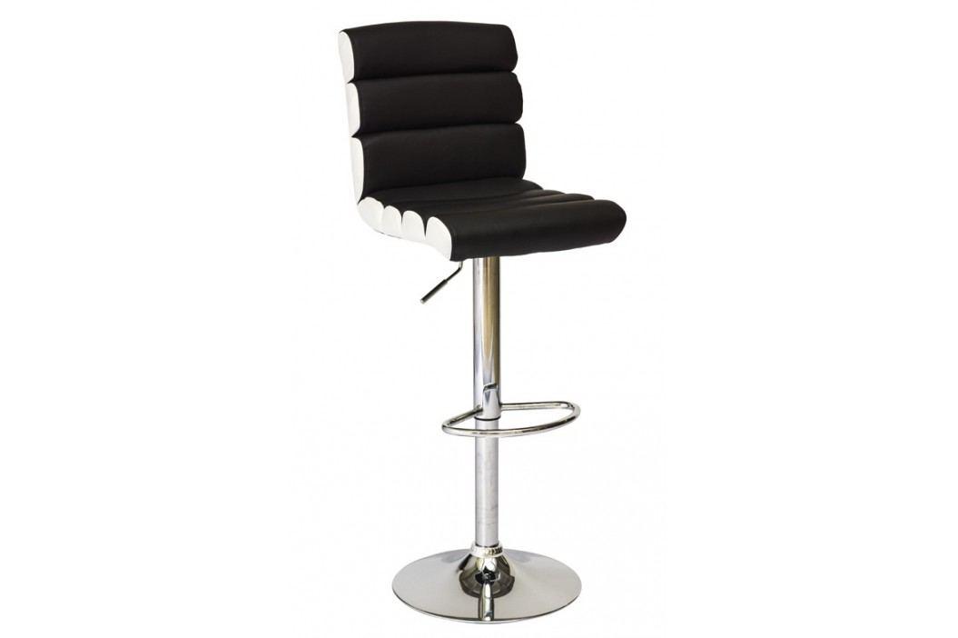 Barová židle KROKUS C-617, černá/bílá
