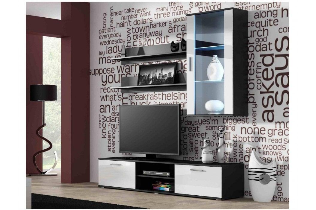 SOHO, obývací pokoj - sestava 2, černý mat/bílý lesk obrázek inspirace