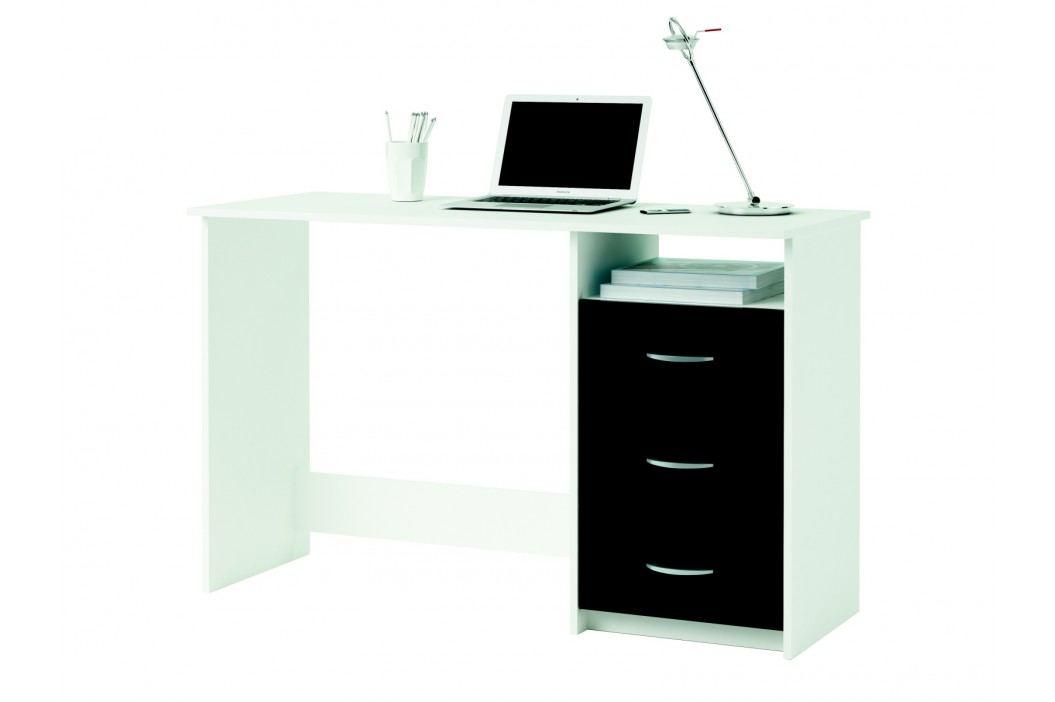 ERISTOTE psací stůl, bílá/černá