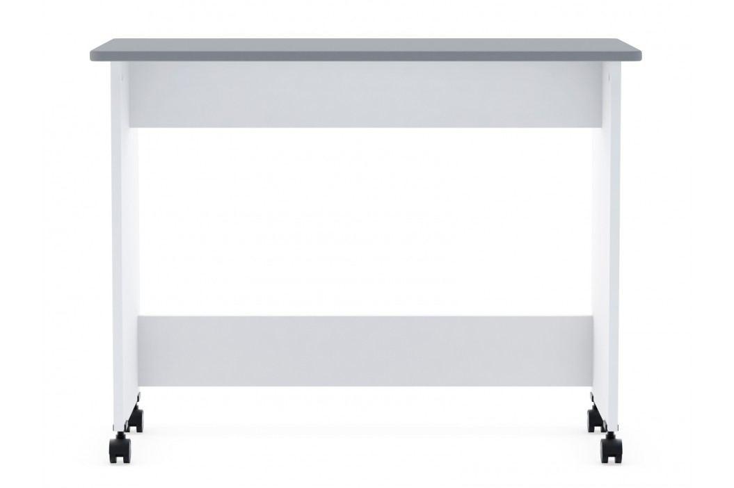 DEMEYERE FALOU psací stůl na kolečkách, bílá/šedá