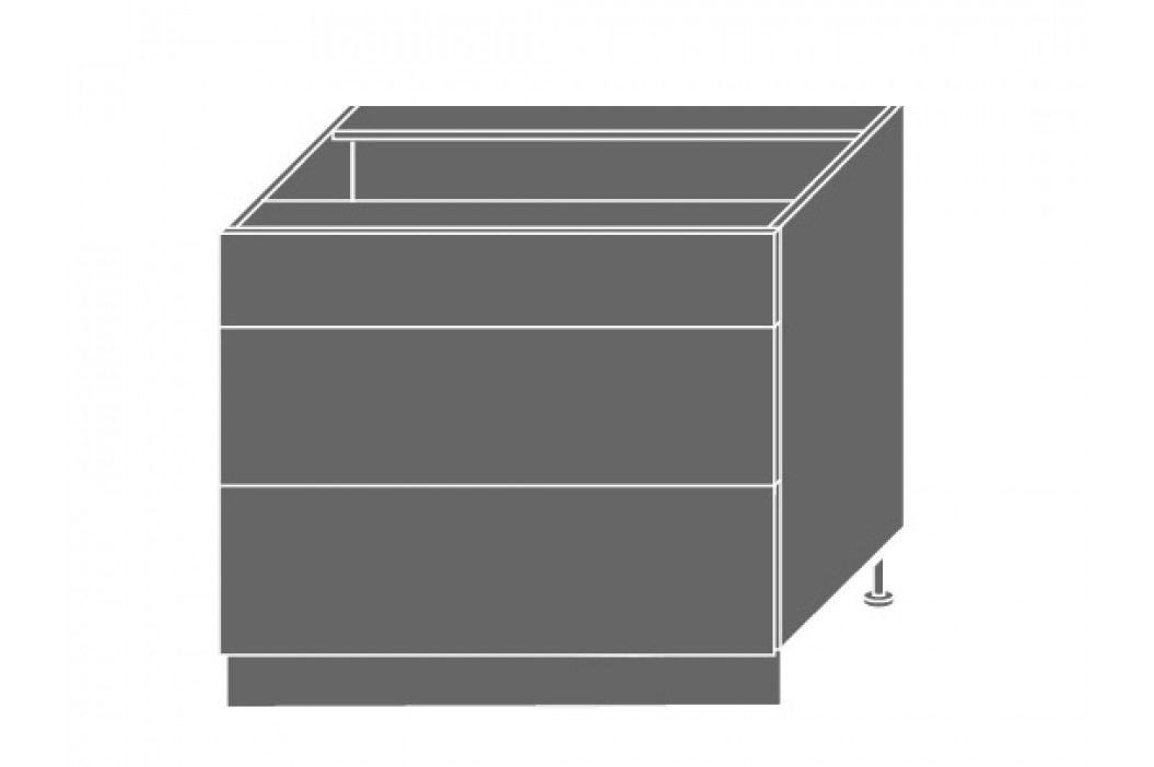 PLATINUM, skříňka dolní D3m 90, korpus: bílý, barva: black stripes