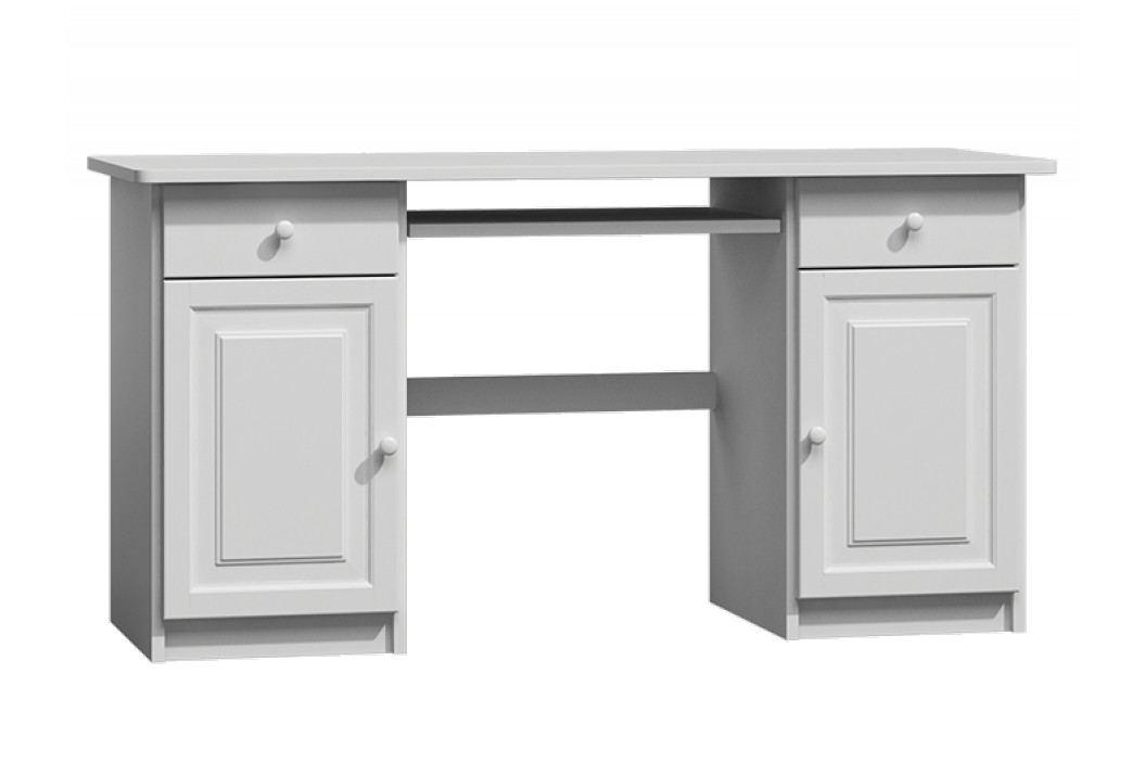 MAGNAT Dřevěný PC stůl CARLOS, masiv borovice, moření: bílá