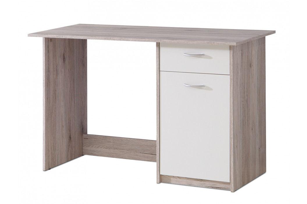 Psací stůl BALIOS BOSB211, dub pískový/bílá