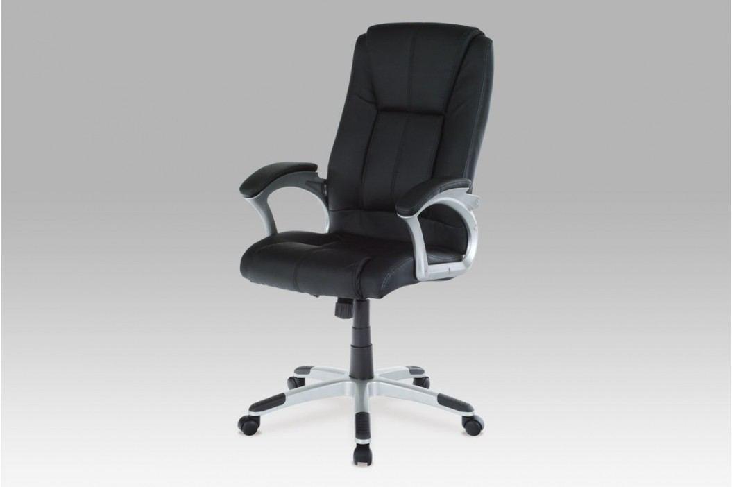 Kancelářská židle KA-N637 BK, PU černá