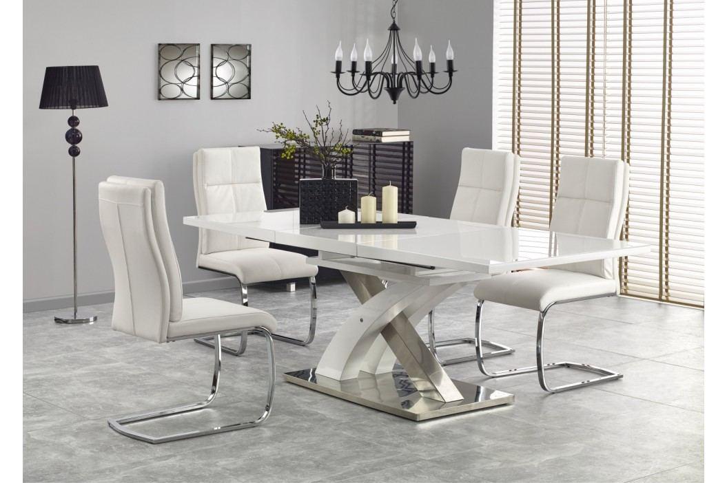 Jídelní stůl rozkládací SANDOR 2, 160/220x90 cm, bílý