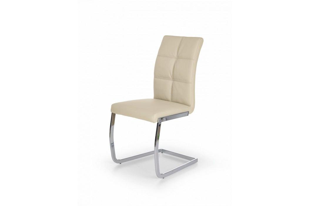 Jídelní židle K228, krémová