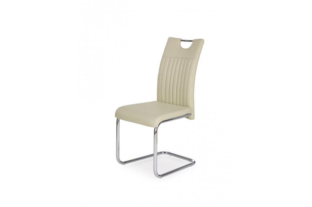 Jídelní židle K258, krémová