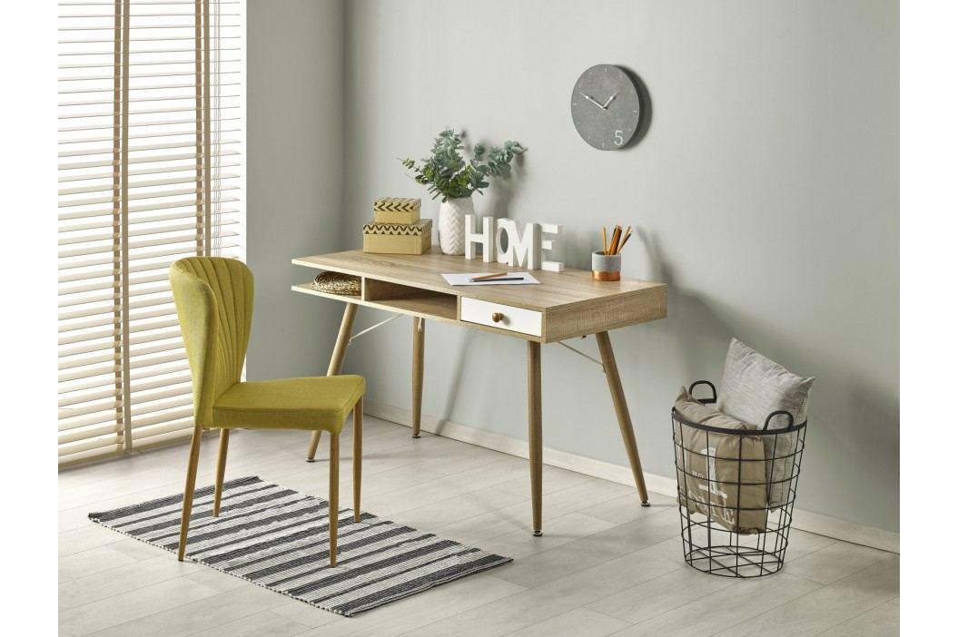 Moderní psací stůl B34, dub sonoma/bílá