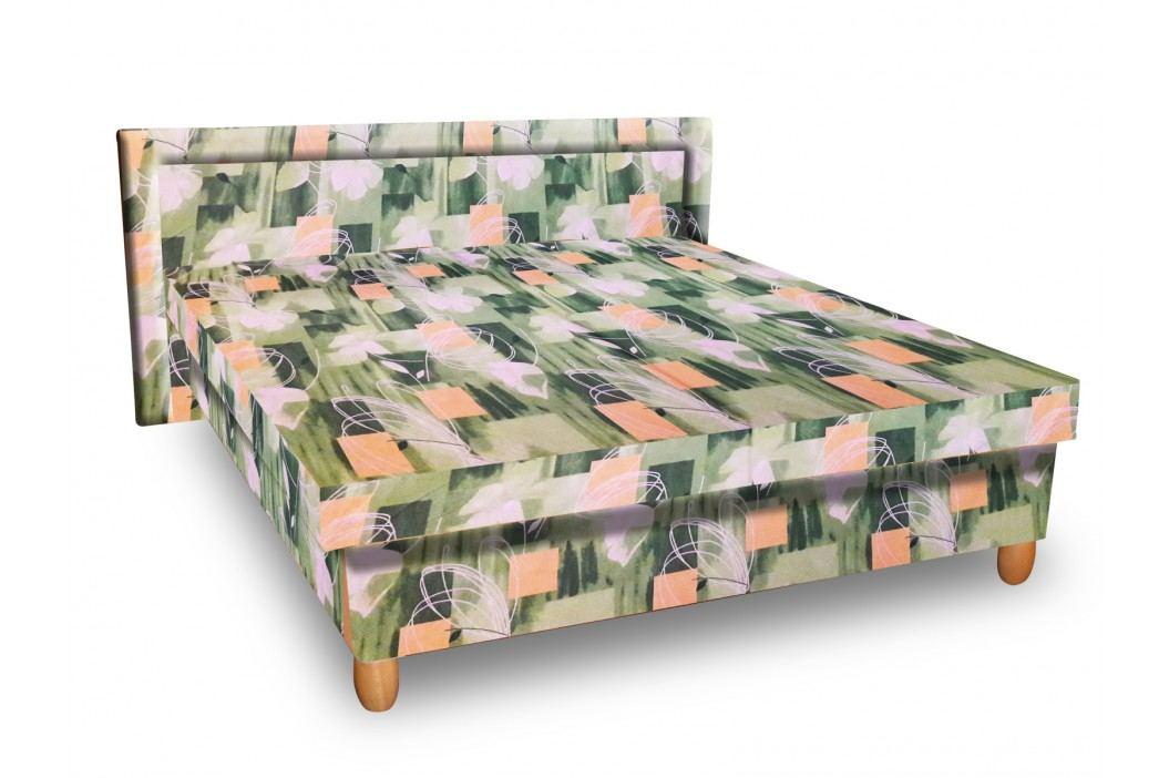 Čalouněná postel IVA 160x195 cm, zelená látka obrázek inspirace