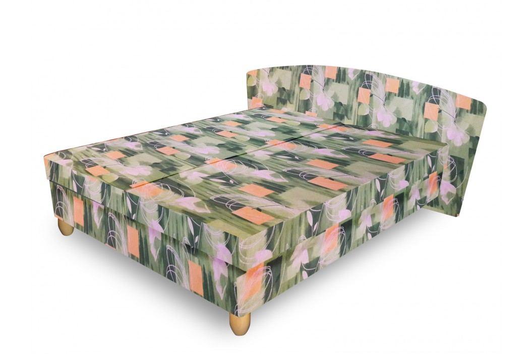 Čalouněná postel NICOL 140x200 cm, zelená látka