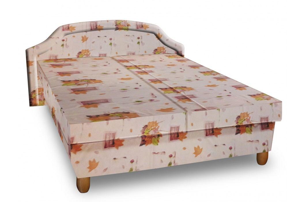 Čalouněná postel KARINA 120x200 cm, béžová látka