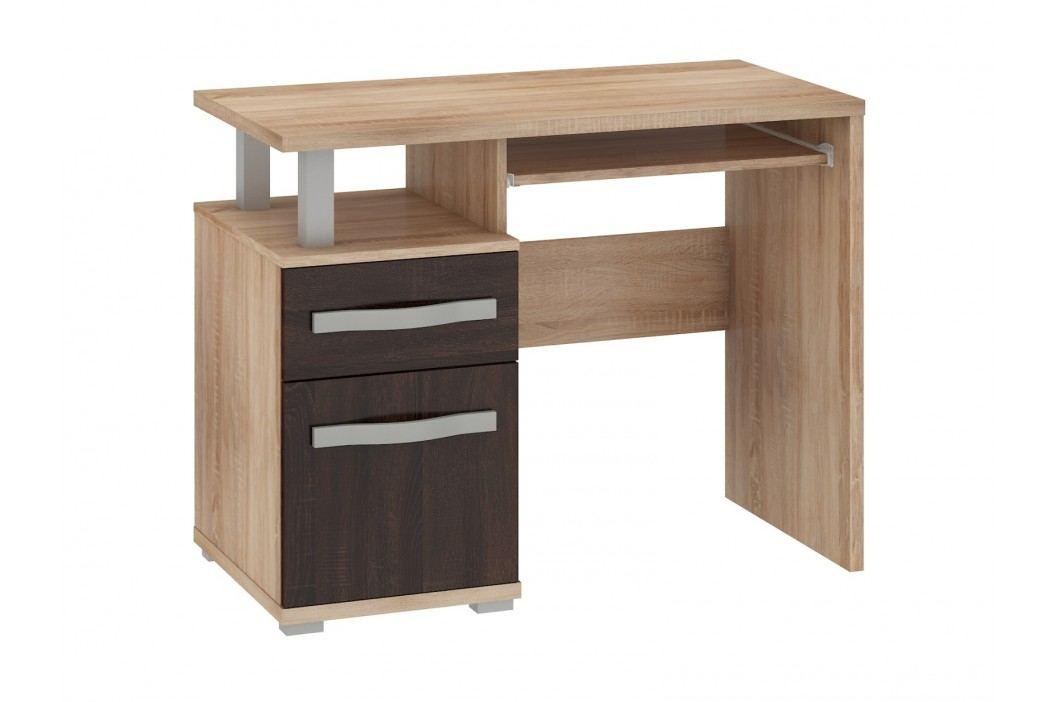 ANGEL PC stůl 1D1S, dub sonoma/dub sonoma tmavý