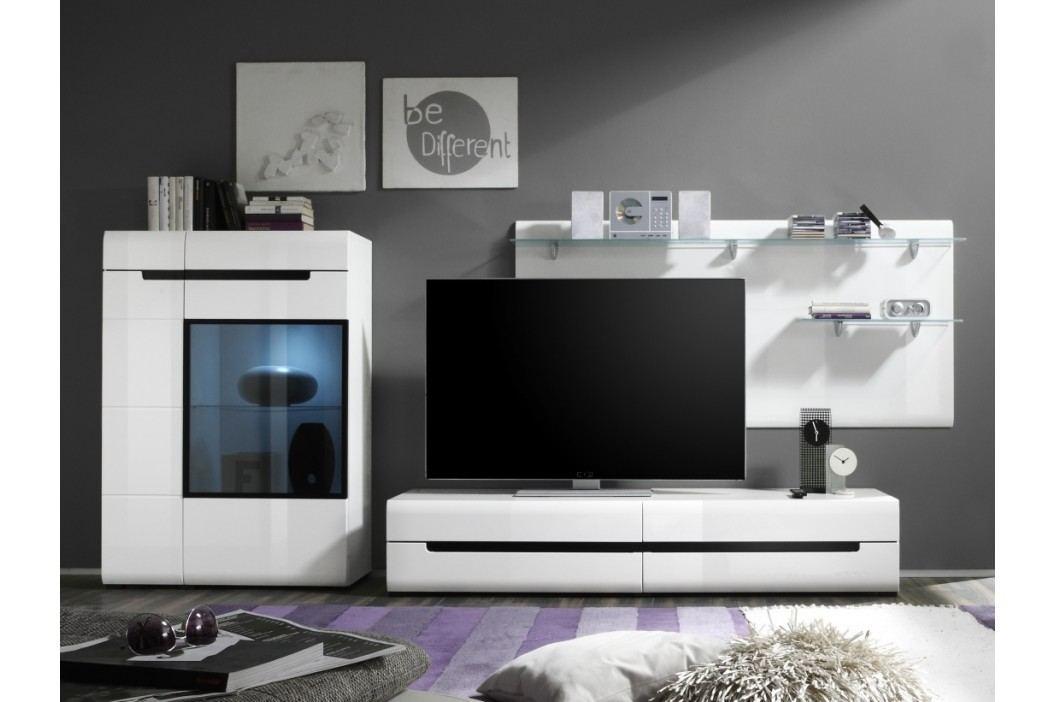 HEKTOR obývací stěna 09, bílá/bílý lesk