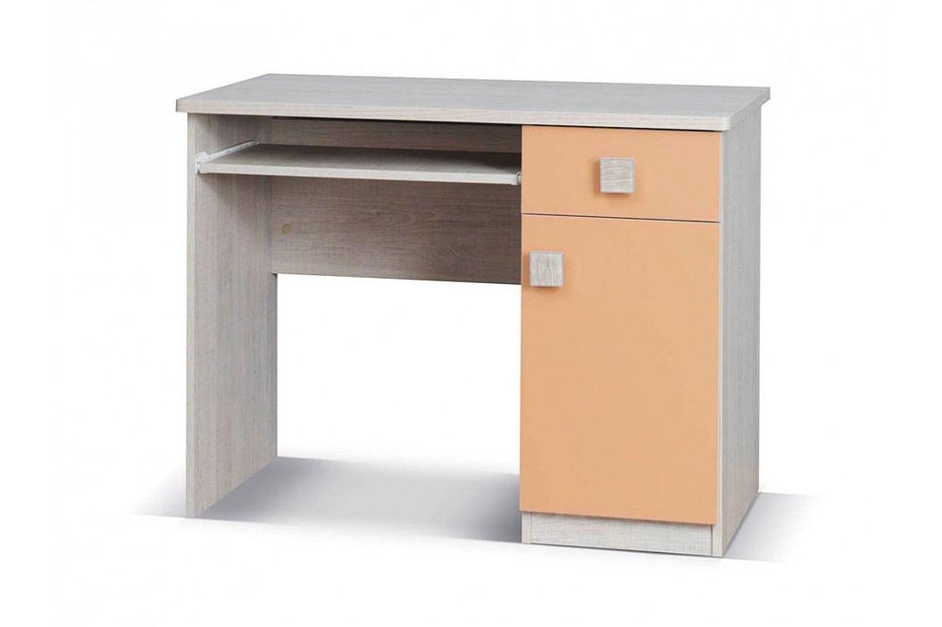 Smartshop TENUS PC stůl, dub santana/oranžová