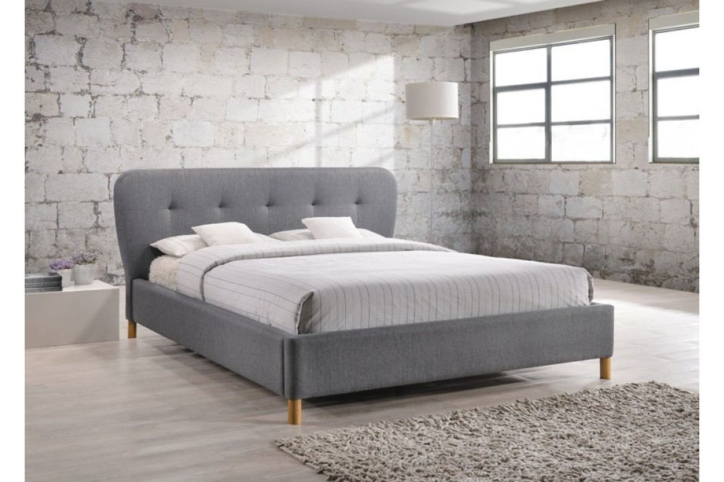 Čalouněná postel BELLA 160x200, šedá látka