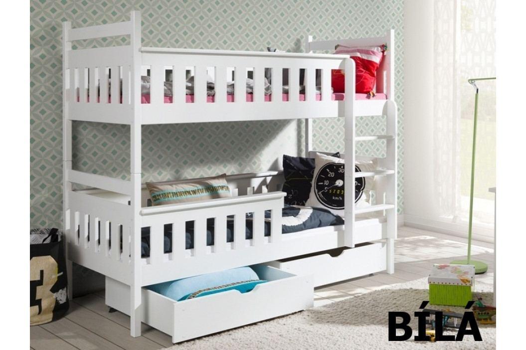 Patrová postel TEZO 90x200 cm, masiv borovice/barva:..