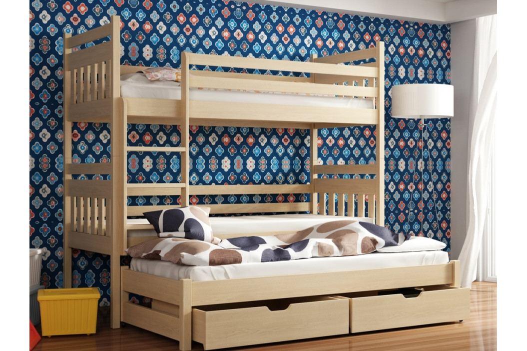 Patrová postel s přistýlkou SEWERYN 80x180 cm, masiv borovice/barva:.. obrázek inspirace