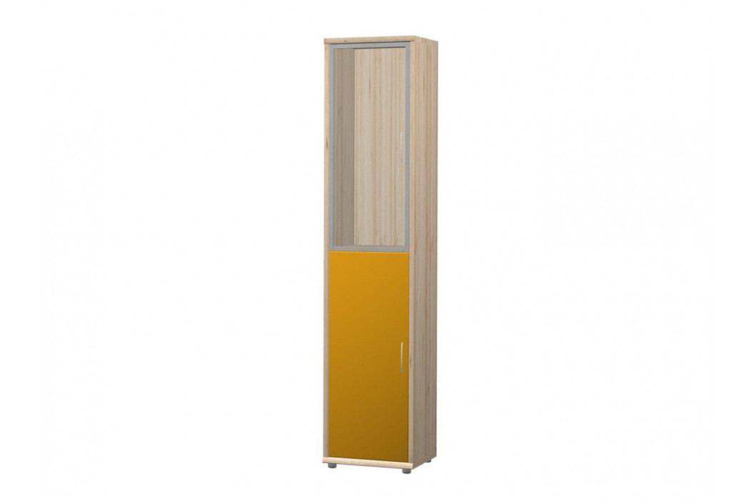 POIND skříň N3, buk iconic/marigold lesk