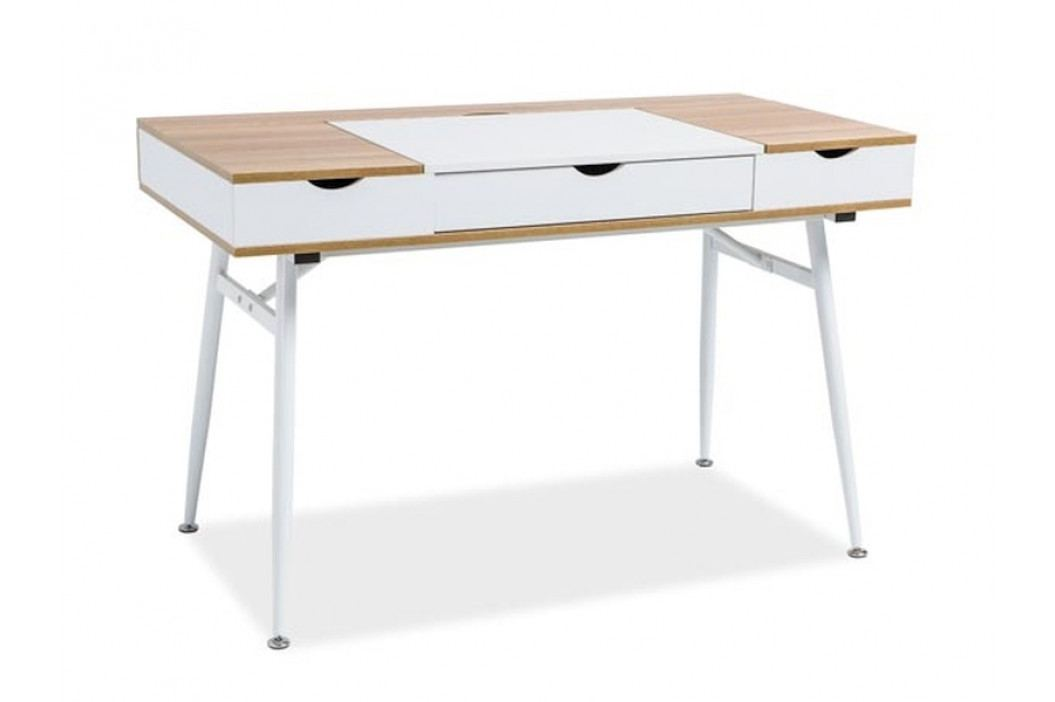 Pracovní stůl B-151, dub/bílá