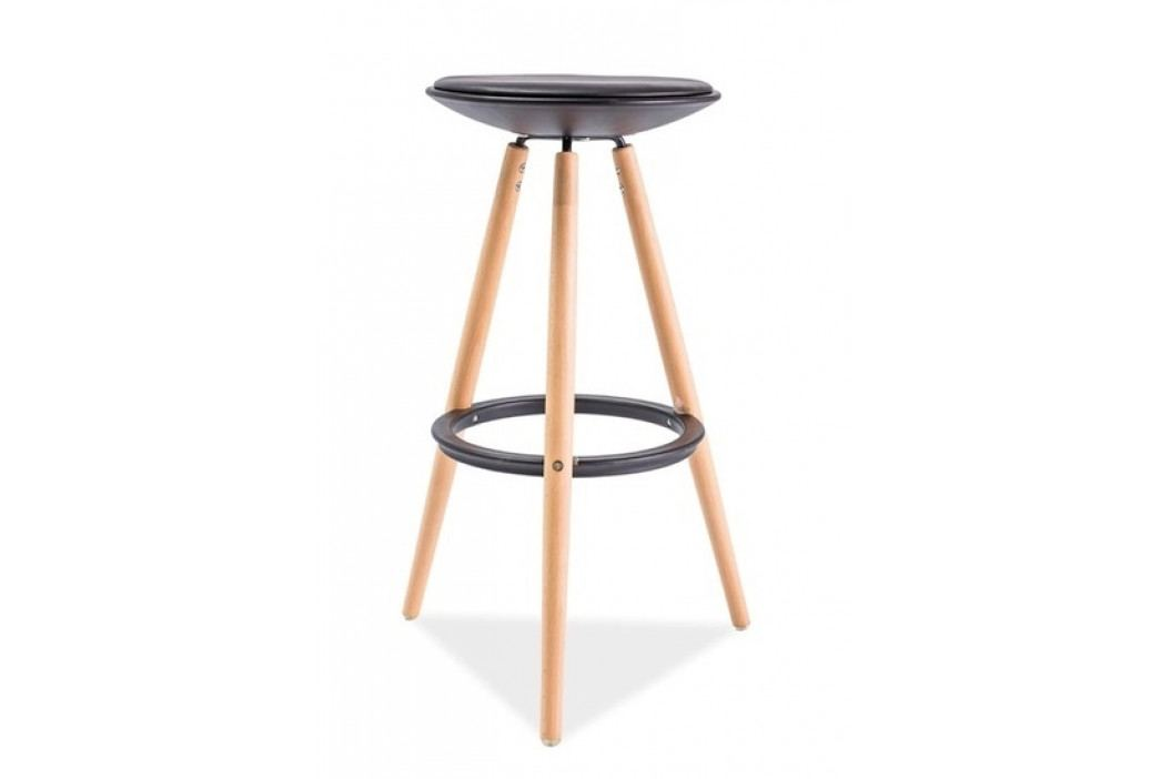 Barová židle ROXY, buk/černá